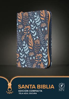 Santa Biblia Ntv, Edición Compacta (Tela, Azul Oscuro) Cover Image