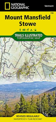 Mount Mansfield, Stowe (National Geographic Trails Illustrated Map #749) Cover Image
