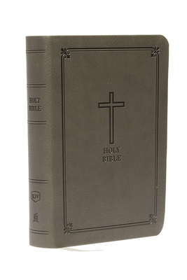 KJV, Reference Bible, Compact, Large Print, Imitation Leather, Black, Red Letter Edition Cover Image