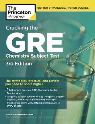 Cracking the GRE Chemistry Subject Test Cover