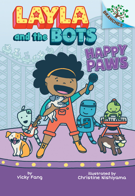 Happy Paws: A Branches Book (Layla and the Bots #1) (Library Edition) Cover Image
