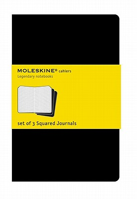 Moleskine Cahier Journal (Set of 3), Pocket, Squared, Black, Soft Cover (3.5 x 5.5): set of 3 Squared Journals (Cahier Journals) Cover Image