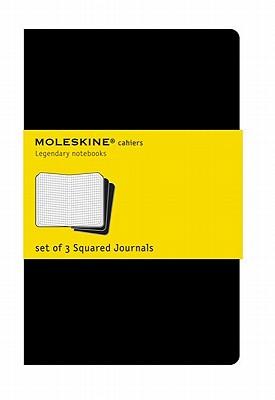 Moleskine Cahier Journal (Set of 3), Pocket, Squared, Black, Soft Cover (3.5 x 5.5): set of 3 Squared Journals (Cahier Journals) Cover Image