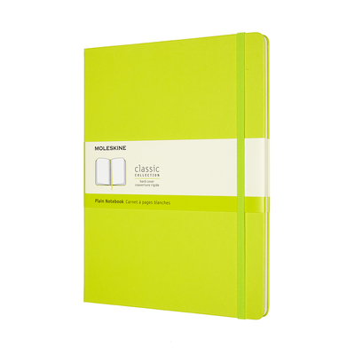 Moleskine Classic  Notebook, Extra Large, Plain, Lemon Green, Hard Cover (7.5 x 9.75) Cover Image