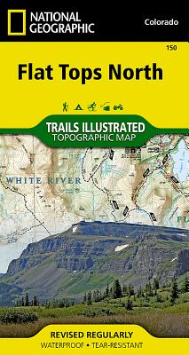 National Geographic: Flat Tops North, Colorado (National Geographic Trails Illustrated Topographic Maps #150) Cover Image