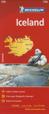 Michelin Iceland Map 750 Cover Image