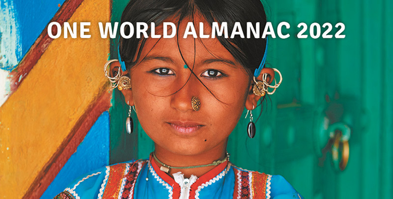 Cover for One World Almanac 2022