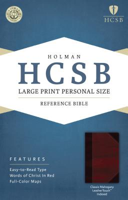 Cover for HCSB Large Print Personal Size Bible, Classic Mahogany LeatherTouch Indexed