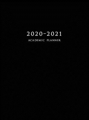 2020-2021 Academic Planner: Large Weekly and Monthly Planner with Inspirational Quotes and Black Cover (Hardcover) Cover Image