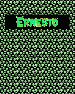 120 Page Handwriting Practice Book with Green Alien Cover Ernesto: Primary Grades Handwriting Book Cover Image