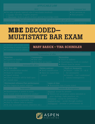 The MBE Decoded: Multistate Bar Exam (Bar Review) Cover Image