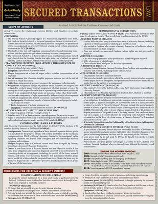 Secured Transactions: A Quickstudy Laminated Reference Guide Cover Image