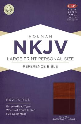 Cover for NKJV Large Print Personal Size Reference Bible, Brown/Tan LeatherTouch Indexed