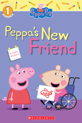 Peppa's New Friend (Peppa Pig Level 1 Reader with Stickers) Cover Image