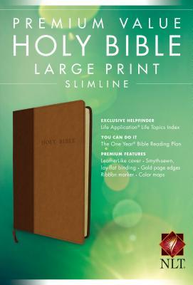 Premium Value Large Print Slimline Bible-NLT Cover Image