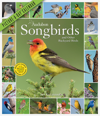 Audubon Songbirds and Other Backyard Birds Picture-A-Day Wall Calendar 2021 Cover Image
