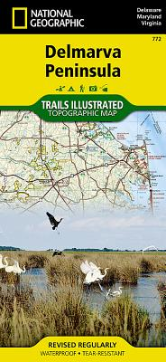 Delmarva Peninsula: Delaware, Maryland & Virginia, USA (National Geographic Maps: Trails Illustrated #772) Cover Image