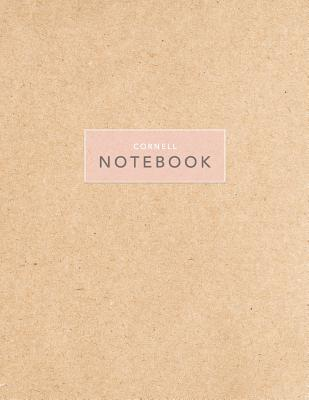 Cornell Notebook: Kraft Paper - 120 White Pages 8.5x11
