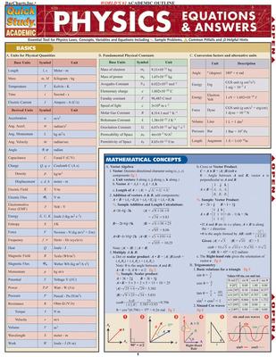 Physics Equations & Answers (Quickstudy: Academic) Cover Image