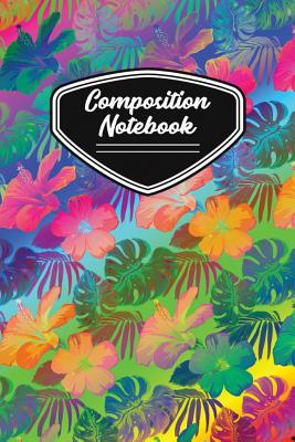Composition Notebook: Cool Psychedelic Floral Pattern Cover Image