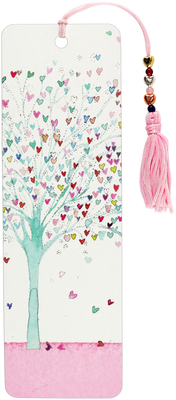 Tree of Hearts Beaded Bookmark Cover Image