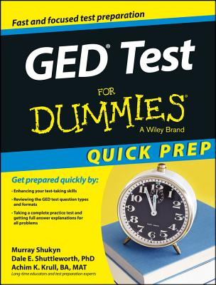 GED Test for Dummies, Quick Prep Cover Image