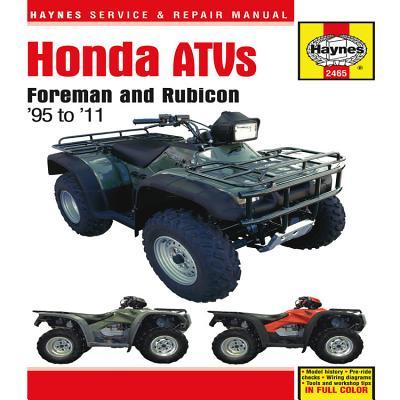 Haynes Honda ATVs: Foreman and Rubicon '95 to '11 Cover Image