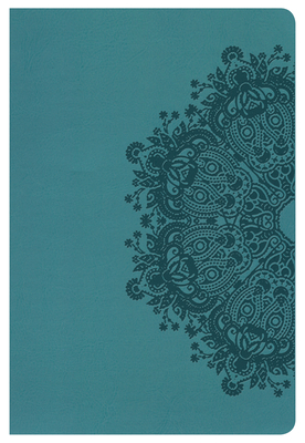 Cover for HCSB Large Print Personal Size Bible, Teal LeatherTouch