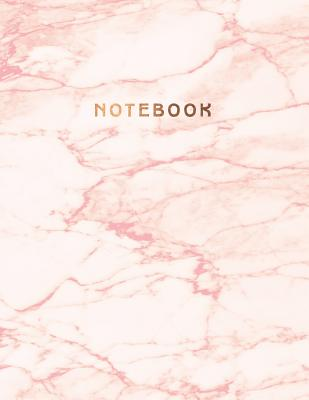 Notebook: Cute pink marble ★ Personal notes ★ Daily diary ★ Office supplies 8.5 x 11 - big notebook 150 pages Cover Image