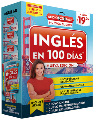 Inglés en 100 días - Curso de Inglés - Audio Pack (Libro + 3 CD's Audio) / English in 100 Days Audio Pack Cover Image