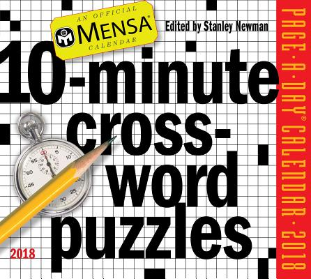 Cover for Mensa 10-Minute Crossword Puzzles Page-A-Day Calendar 2018