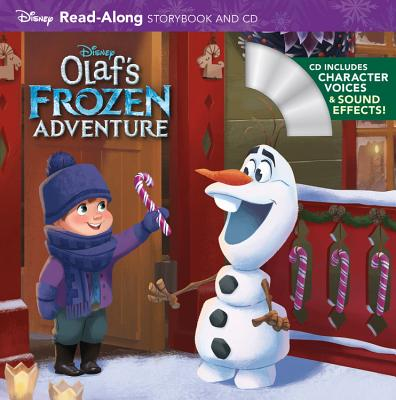 Olaf's Frozen Adventure Read-Along Storybook and CD Cover Image