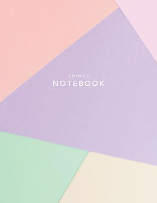 Cornell Notebook: Abstract Pastel - 120 White Pages 8.5x11