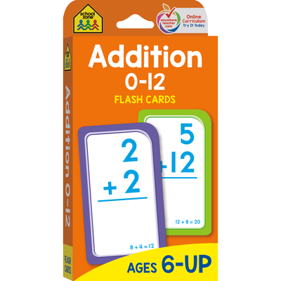 Addition 0-12 Flash Cards Cover Image