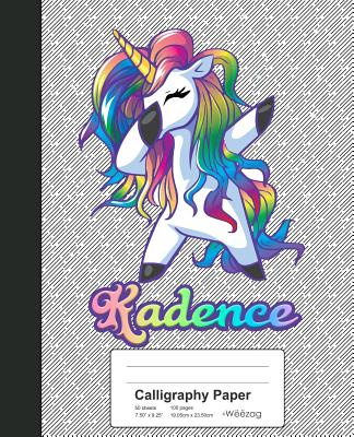 Calligraphy Paper: KADENCE Unicorn Rainbow Notebook Cover Image