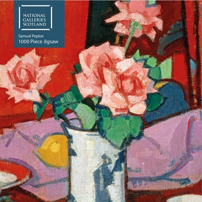 Adult Jigsaw Puzzle National Galleries Scotland - Samuel Peploe: Pink Roses, Chinese Vase: 1000-piece Jigsaw Puzzles Cover Image