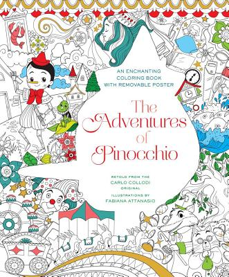 The Adventures of Pinocchio Coloring Book Cover Image