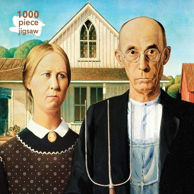 Adult Jigsaw Puzzle Grant Wood: American Gothic: 1000-Piece Jigsaw Puzzles Cover Image
