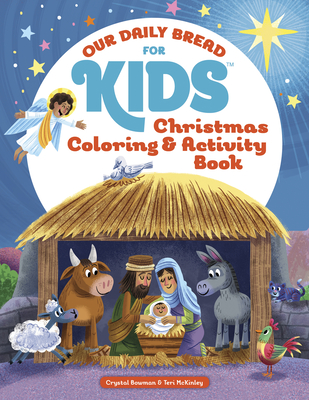 christmas coloring and activity book our daily bread for kids cover image
