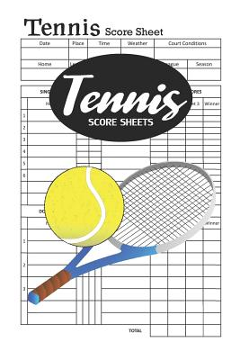 Tennis Score Sheets: Keep all games in one place Cover Image