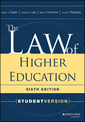 The Law of Higher Education: Student Version Cover Image