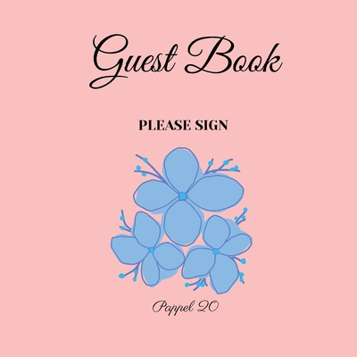 Guest Book- Flowers in a book themed - For any occasion- 66 color pages -8.5x8.5 Inch Cover Image