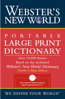 Webster's New World Portable Large Print Dictionary, Second Edition Cover Image