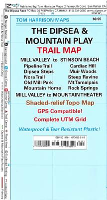 Dipsea-Mountain Play Trail Map (Tom Harrison Maps) Cover Image