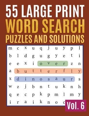 55 Large Print Word Search Puzzles And Solutions: Activity Book for Adults and kids Word Game Easy Quiz Books for Beginners (Find a Word for Adults & Cover Image
