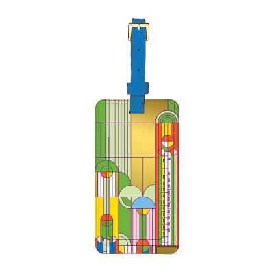 Frank Lloyd Wright Saguaro Forms & Cactus Flowers Luggage Tag Cover Image