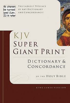 Super Giant Print Bible Dictionary and Concordance Cover