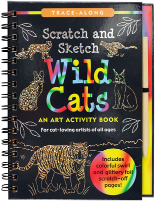 Scratch & Sketch(tm) Wild Cats (Trace Along) Cover Image