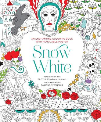 Snow White Coloring Book Cover Image