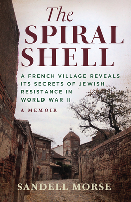 book cover art. A modern sepia toned photograph of french village stone buildings that still bear WWII bomb damage.